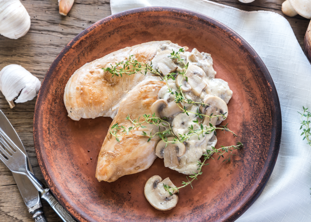 Chicken With Creamy Mushroom Sauce | Slimming World Recipe ...