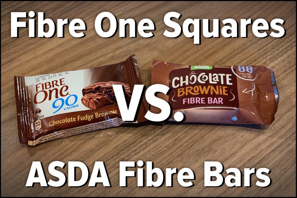 Fibre One Squares Vs Asda Fibre Bars Fatgirlskinny